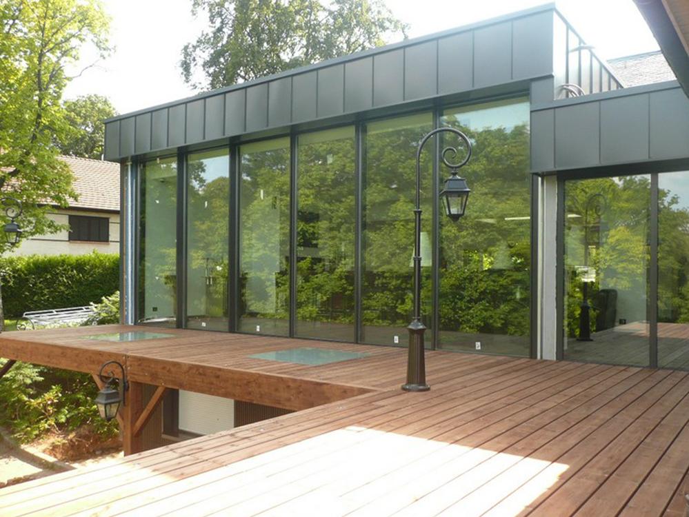 ossature bois extension terrasse